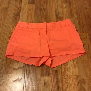 J. Crew Orange Chino Shorts